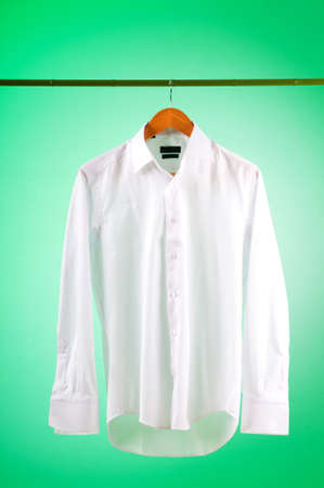 laundry hanger: Male shirt against gradient background