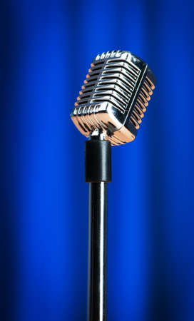 Audio microphone against the background Stock Photo - 10371135