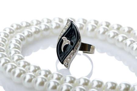 Selection of many precious rings photo