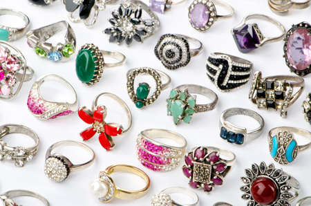 Selection of many precious rings Stock Photo - 10557346