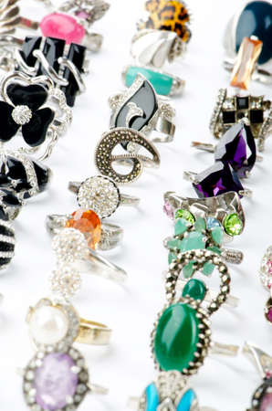 Selection of many precious rings Stock Photo - 10561021