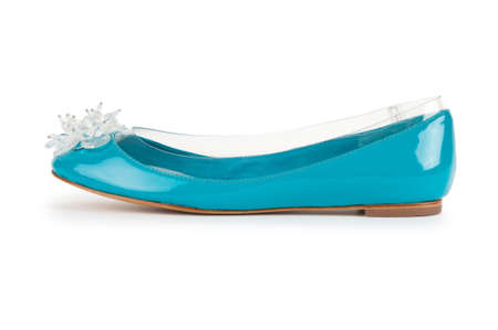 Elegant flat shoes isolated on white Stock Photo - 10557989
