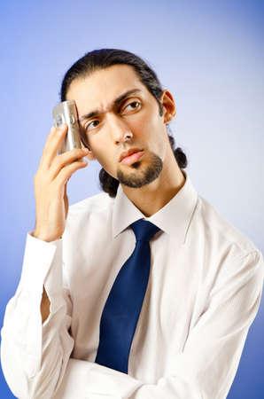 Businessman talking on the phone photo