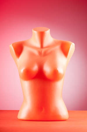 Clothing mannequins against gradient background Stock Photo