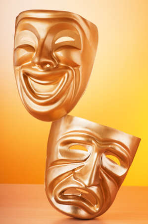 Masks with the theatre concept Stock Photo - 10557683