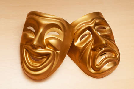 Masks with the theatre concept Stock Photo - 10557752