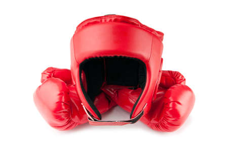 Sporting concept with box items photo