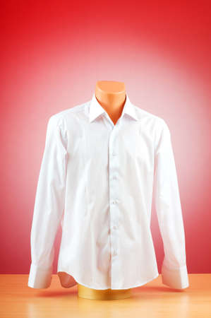 Male shirt against gradient background photo