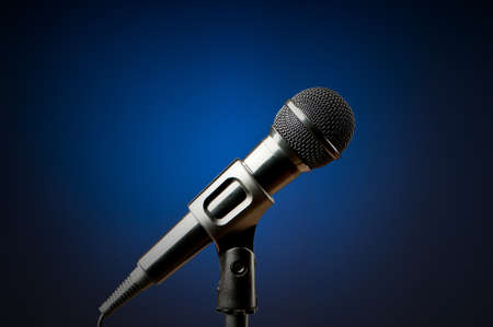 micro recording: Audio microphone against the background