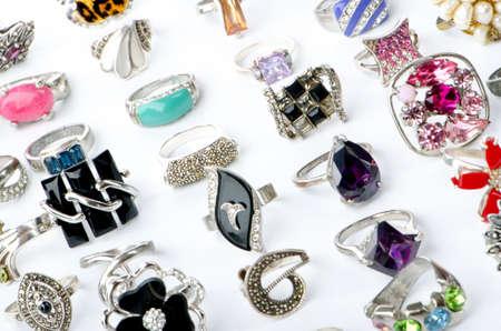 Selection of many precious rings Stock Photo - 10620162