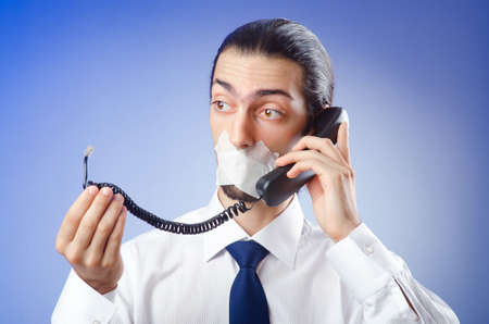 Businessman with his lips sealed Stock Photo - 10660217