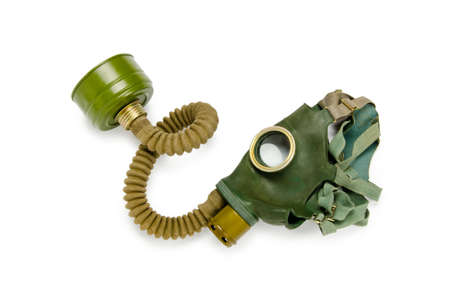 chemical warfare: Gas mask isolated on the white background Stock Photo