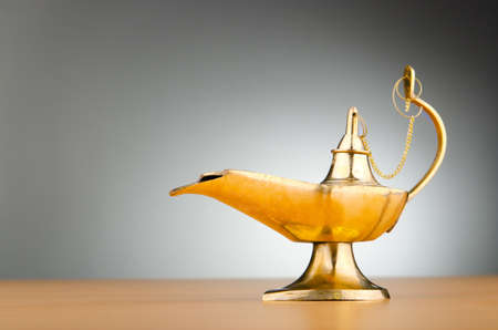 Ancient lamp against gradient background Stock Photo - 10620049