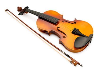 violines: Viol�n aislado en el blanco
