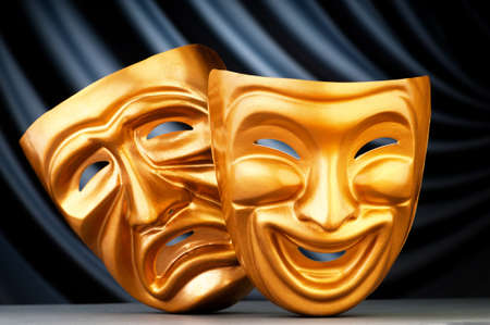 theatre symbol: Masks with the theatre concept