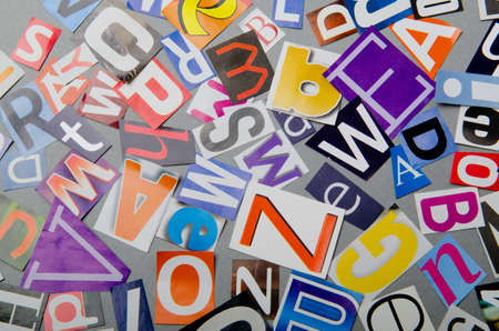 Cut letters from newspapers and magazines Stock Photo - 10615997