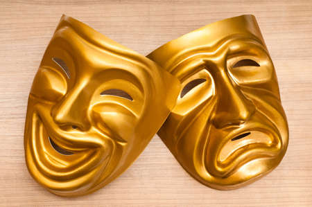 Masks with the theatre concept Stock Photo - 10615034