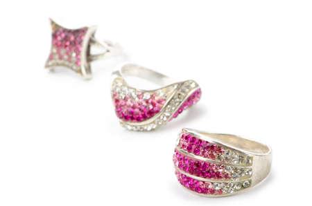 Selection of many precious rings Stock Photo - 10660300