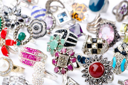 Selection of many precious rings Stock Photo - 10660881