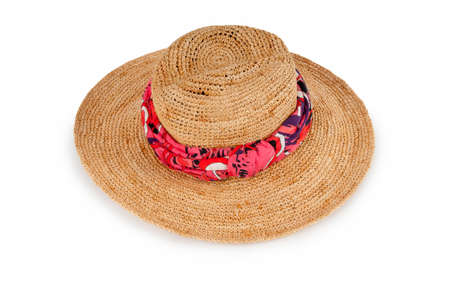 Summer hat isolated on the white background Stock Photo