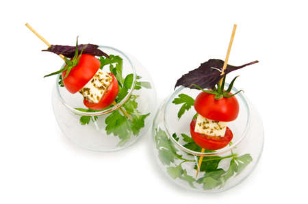 catering service: Canapes served in the plate