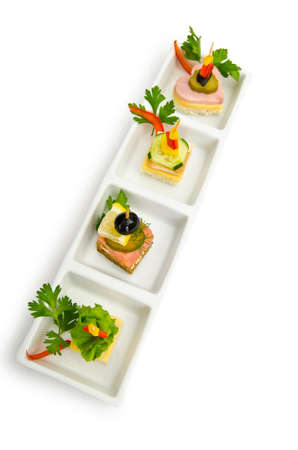 Selection of various canape  photo