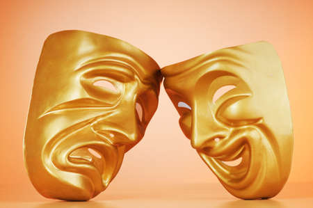 Masks with the theatre concept Stock Photo - 10660597