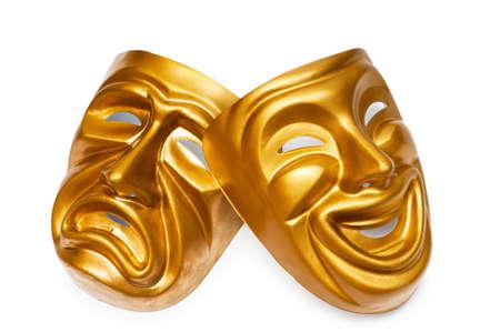 theatre: Masken mit dem Theater-Konzept Lizenzfreie Bilder