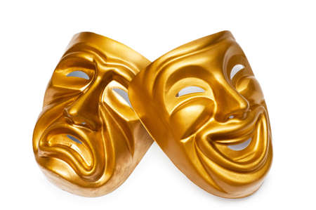 curtain theatre: Masks with the theatre concept