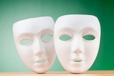 cara triste: Las m?scaras con el concepto de teatro