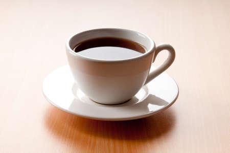 Tea on the wooden table photo