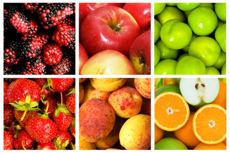 Collage of many fruits and vegetables Stock Photo - 10659116