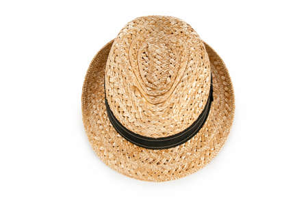 Summer hat isolated on the white background photo