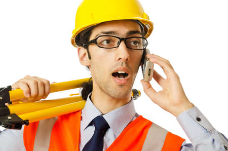 Young construction worker with hard hat Stock Photo - 10700507