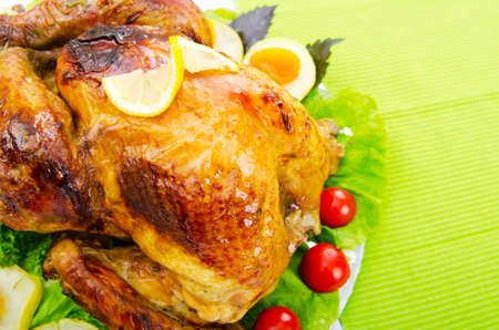 Roasted turkey on the festive table Stock Photo - 10675202