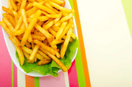 Close up of french fries photo