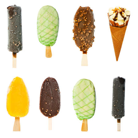 Collage of various ice creams photo