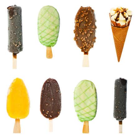 다양한 아이스크림의 콜라주