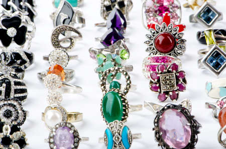 Selection of many precious rings Stock Photo - 10707941