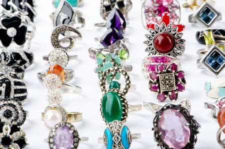 Selection of many precious rings Stock Photo - 10707941