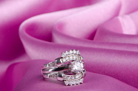 diamond rings: Fashion concept with ring on background