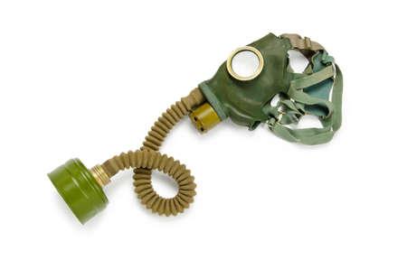 Gas mask isolated on the white background photo