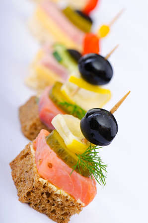 animal finger: Selection of various canape