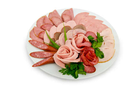 antipasto: Meat platter with selection
