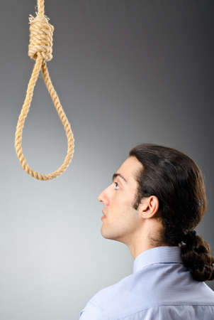 Businessman with thoughts of suicide Stock Photo - 10819054