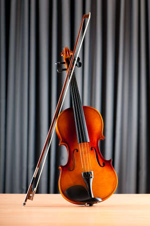 Music concept with violin photo
