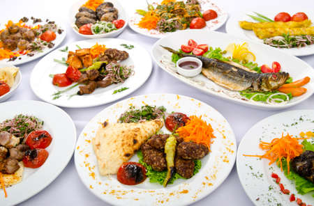 formal dinner party: Party meals on the table Stock Photo