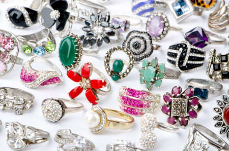 Selection of many precious rings Stock Photo - 10858167