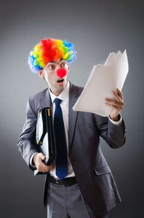 Clown businessman in funny business concept Stock Photo - 10866357