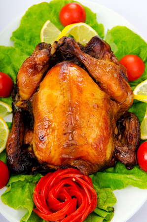 Roasted turkey on the festive table Stock Photo - 10852997